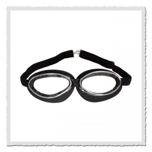 Aviator Goggle 4601 Moosgummi schwarz chrom