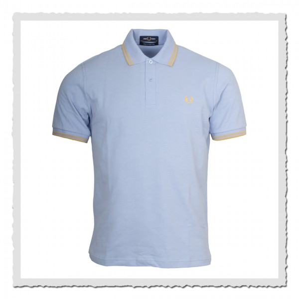 Fred Perry Reissues Polo Shirt M12 lido blue N63 Berlin