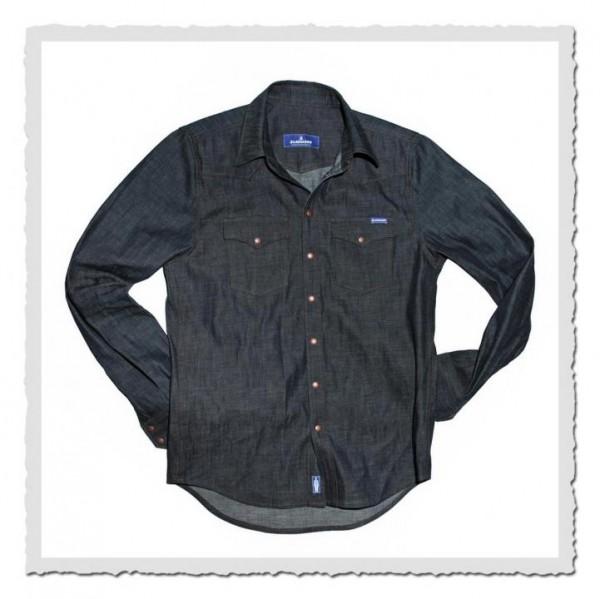 8oz. Blaumann-Hemd blue
