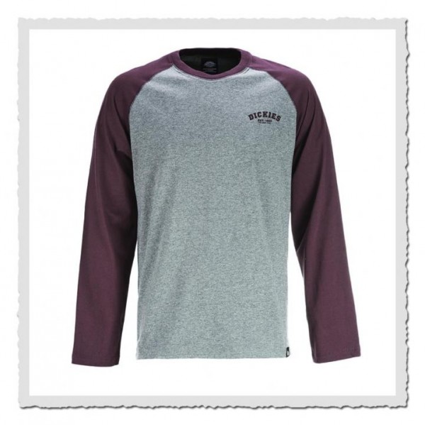 Baseball Shirt grey/maroon