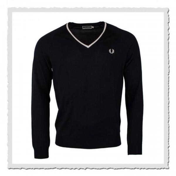 Sweater Single Tipped V-Neck navy