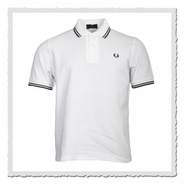 Polo Shirt Twin Tipped white/green