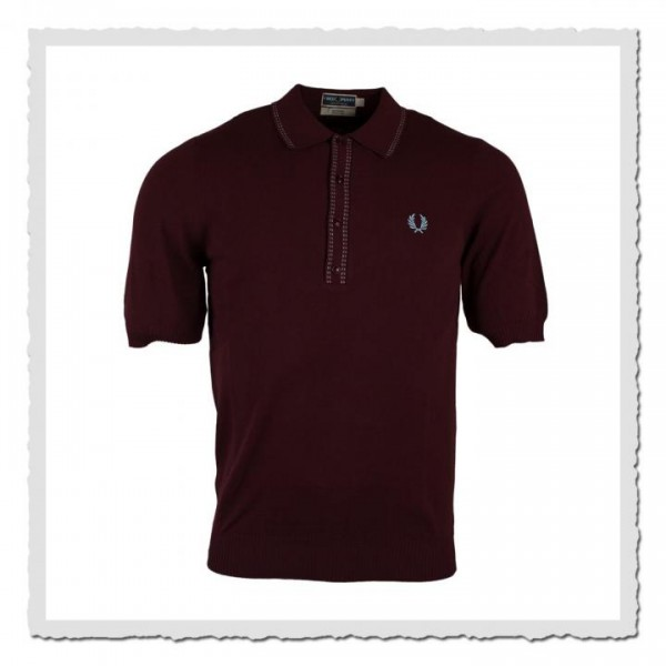 Polo Shirt Dashed Twin Tipped bordeaux