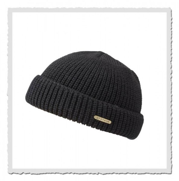 Beanie Merino Wool, schwarz