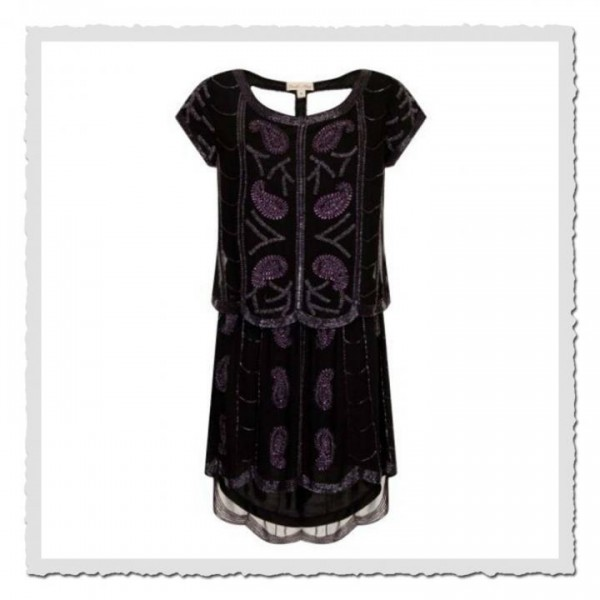 Flapper Dress Josey blackberry