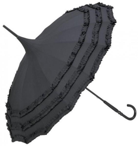Pagodenschirm 'Amelie', schwarz
