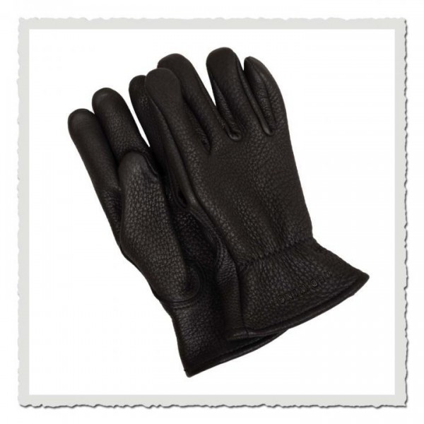 Buckskin Leather Gloves 95236 black
