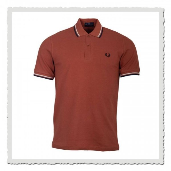 Polo Shirt Twin Tipped Paprika