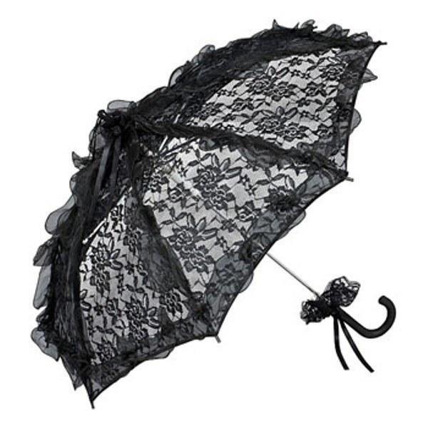 Spitzenschirm 'Desirée' schwarz
