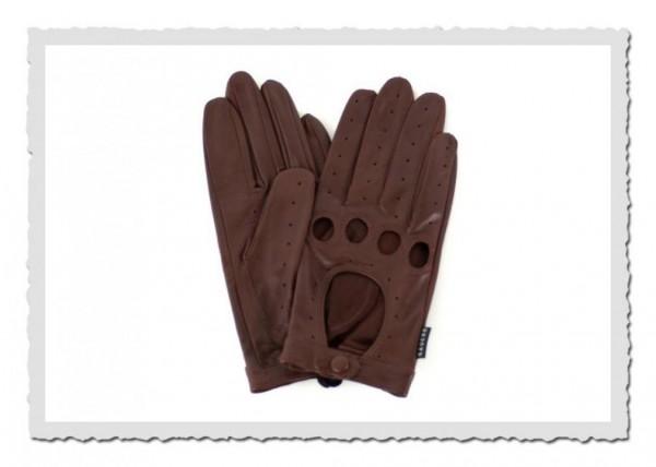 Autofahrer-Handschuh chestnut