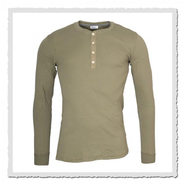 schiesser revival 1/1-arm shirt karl heinz khaki