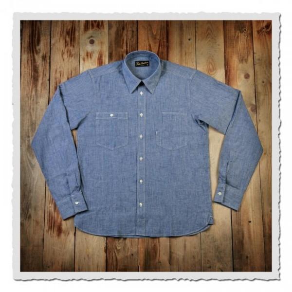 1937 Roamer Shirt blue chambrey