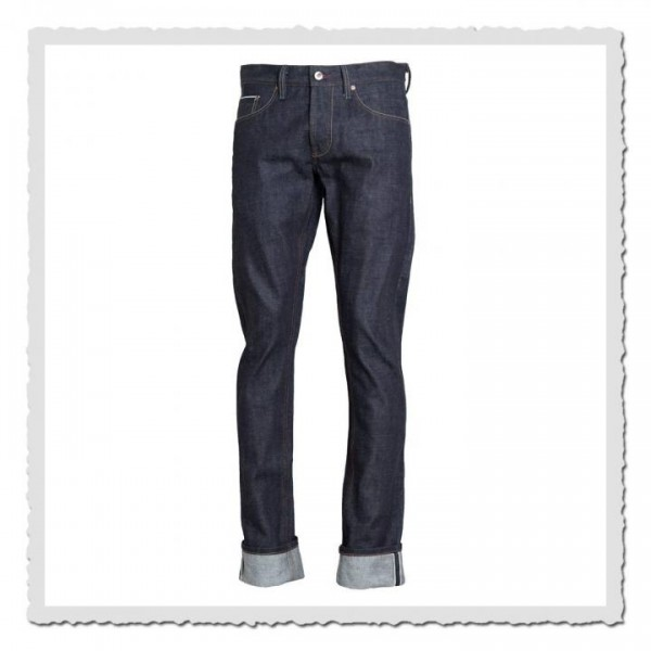 15oz Jeans schmaler Blaumann