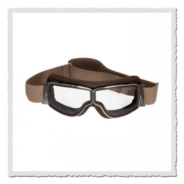 Aviator Goggle T2 braun/chrom