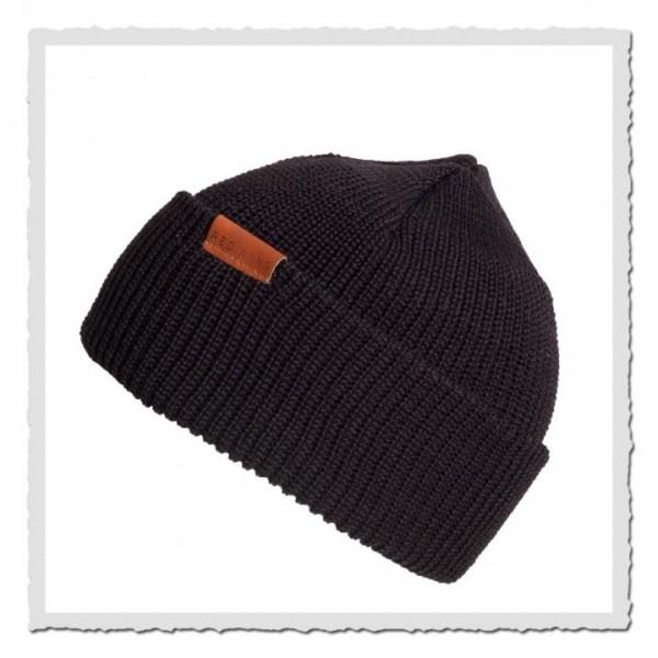 Beanie Merino Wool 97492 black