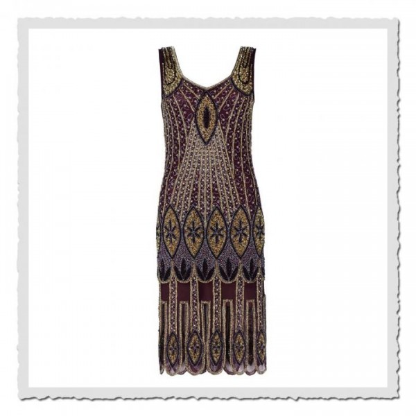 Flapper Dress Molly Plum