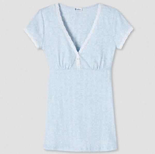 Agathe 1/2-Arm-Shirt hellblau-melange