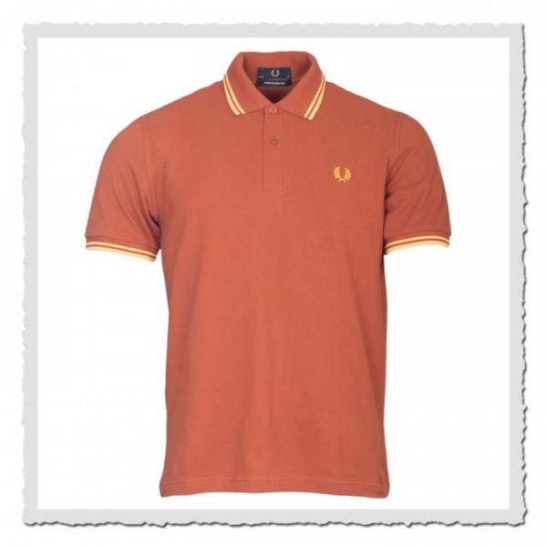 Polo Shirt Twin Tipped Paprika/yellow