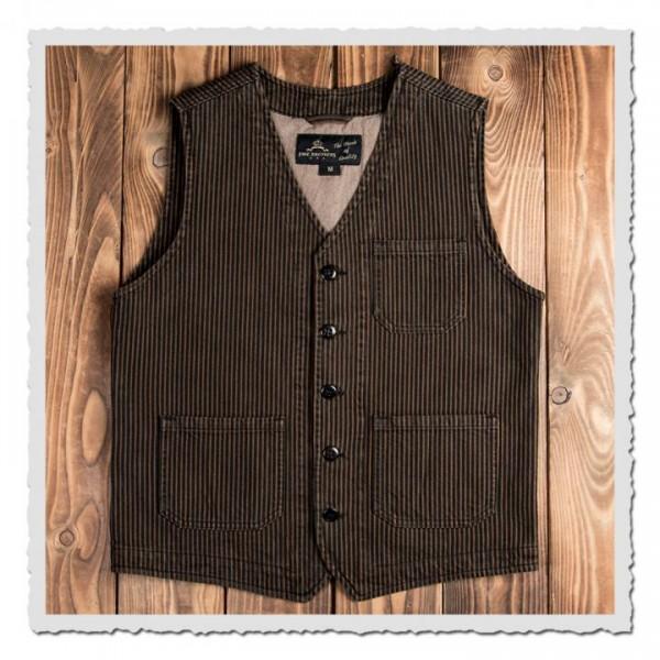 1937 Roamer Vest hickory stripe brown