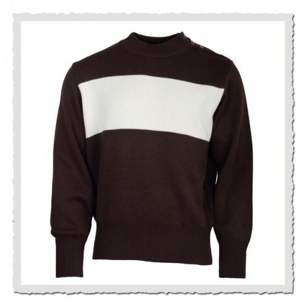 Pullover braun offwhite