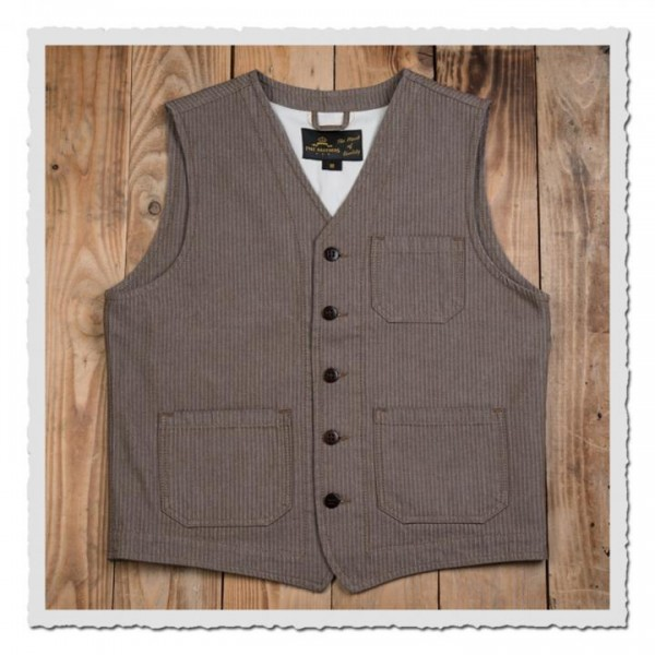 1937 Roamer Vest herringbone twill brown