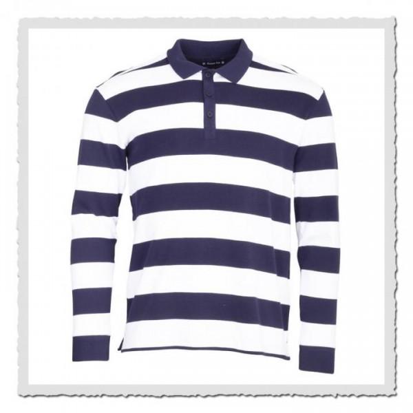 Rugby Polo-Shirt blau/weiss