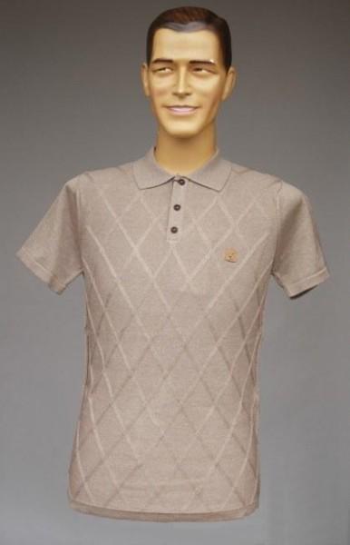 Herren-Polo-Shirt, stein-farben