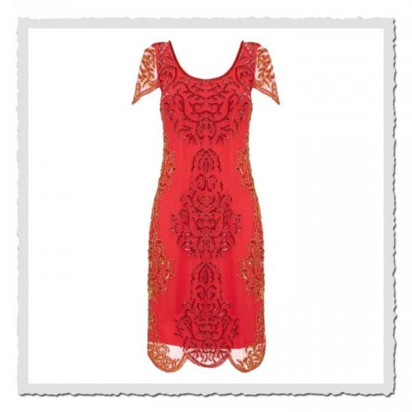 Flapper Dress Alice Red