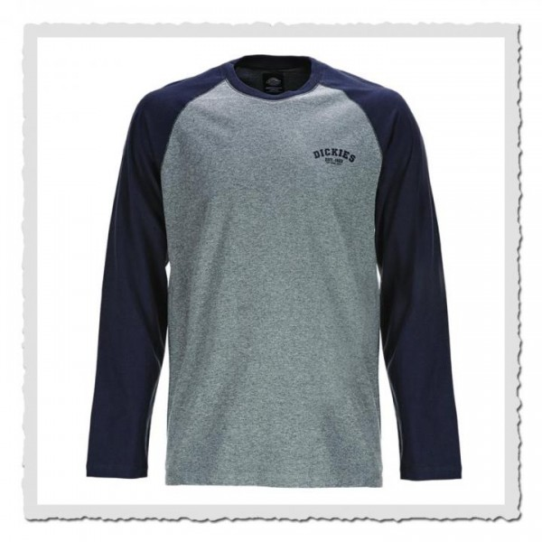 Baseball Shirt grey/dark navy