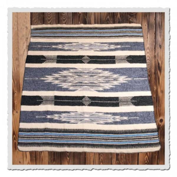 1969 Chimayo blanket blue