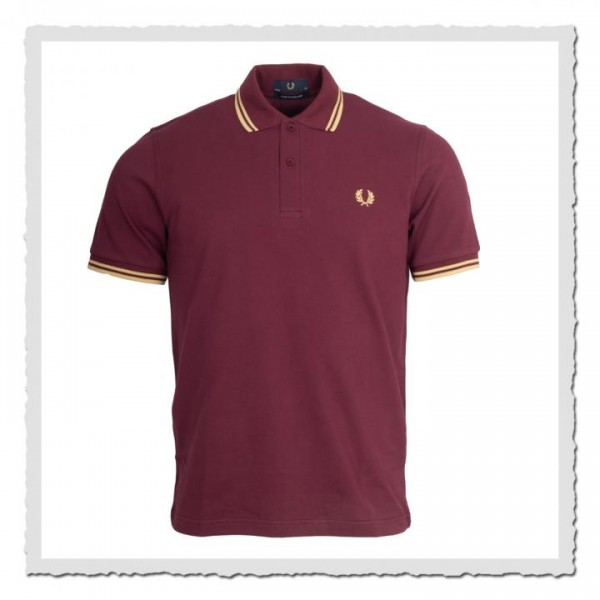 Polo Shirt Twin Tipped Aubergine