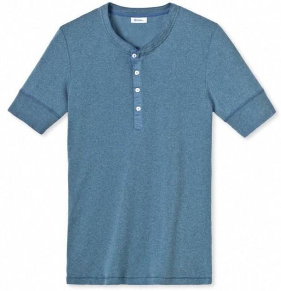 Karl-Heinz 1/2-Arm-Shirt blaumelange