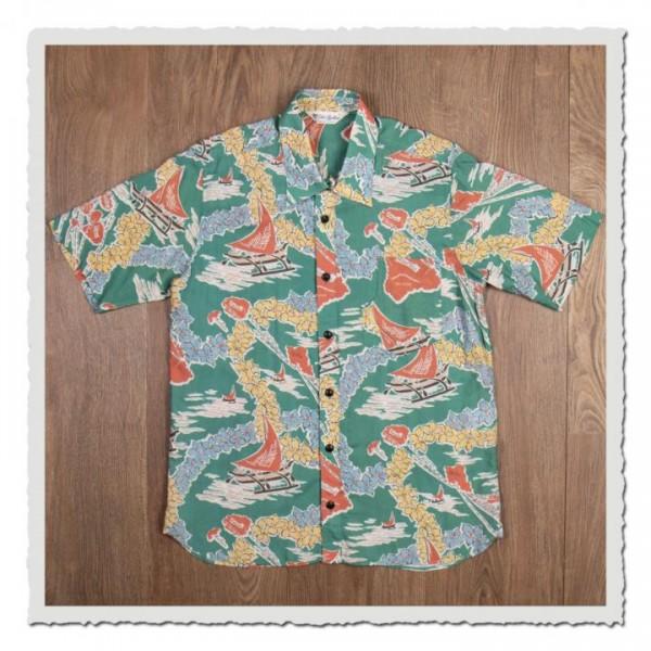 1937 Roamer Shirt Short Sleeve Hapuna green