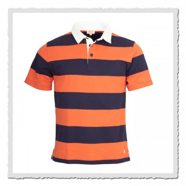 Rugby Shirt Kollektion Heritage navy orange