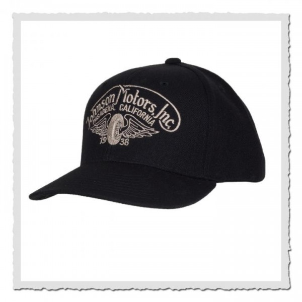Garage Cap Winged Wheel Black