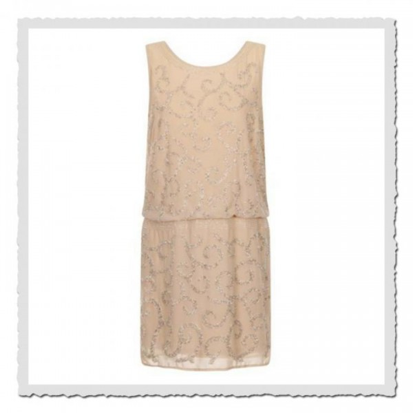 Flapper Dress Peach stone