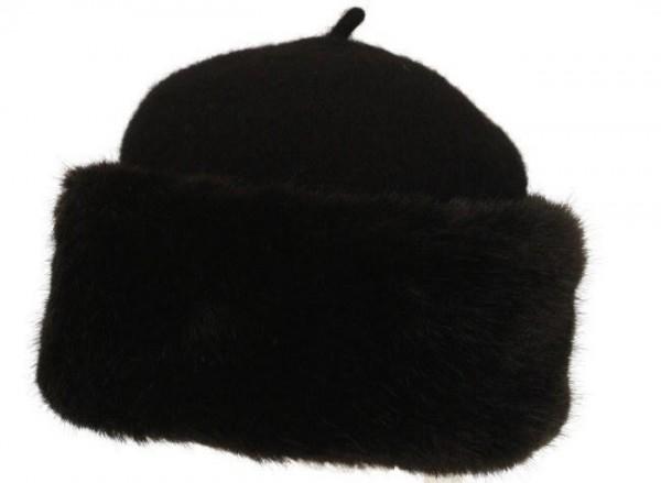 Damen Mütze Stella schwarz