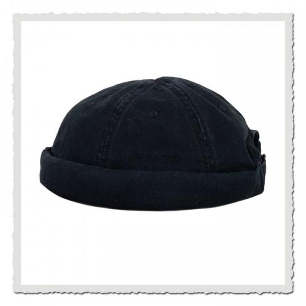 Docker Cap Cotton black