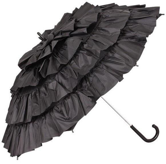 Schirm 'Daphne' klein, schwarz