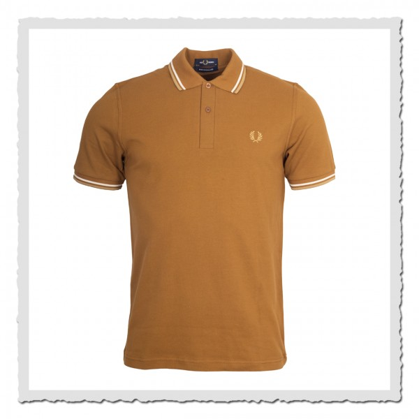 Polo Shirt Twin Tipped dark caramel