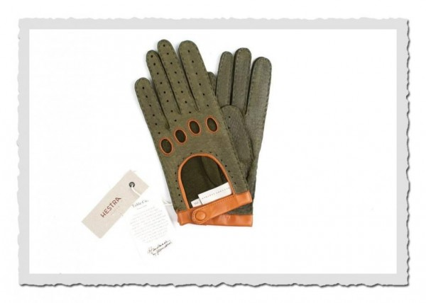 Peccary-Handschuhe olive/caramel