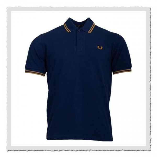 Polo Shirt Twin Tipped French Navy/Champagner