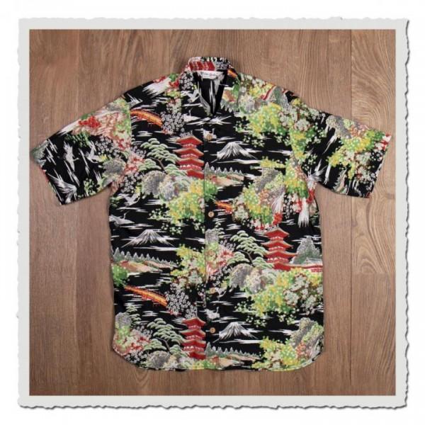 1937 Roamer Shirt Short Sleeve Miyamato black