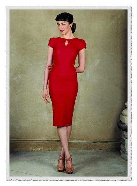 Damenkleid Evie rot