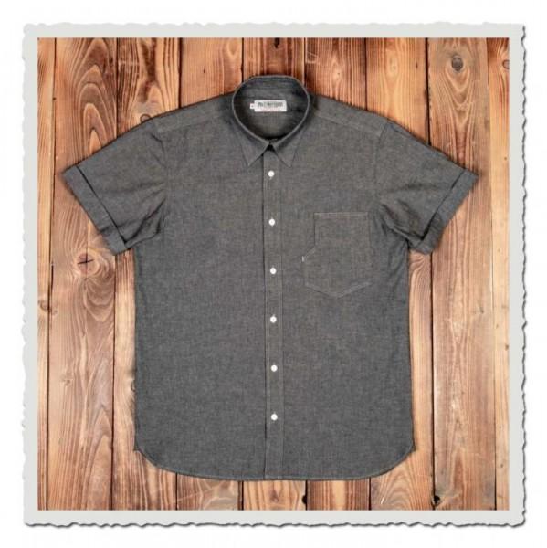 1937 Roamer Shirt Short sleeve charcoal grey