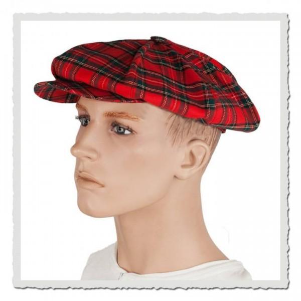 Ballon-Mütze scottish red