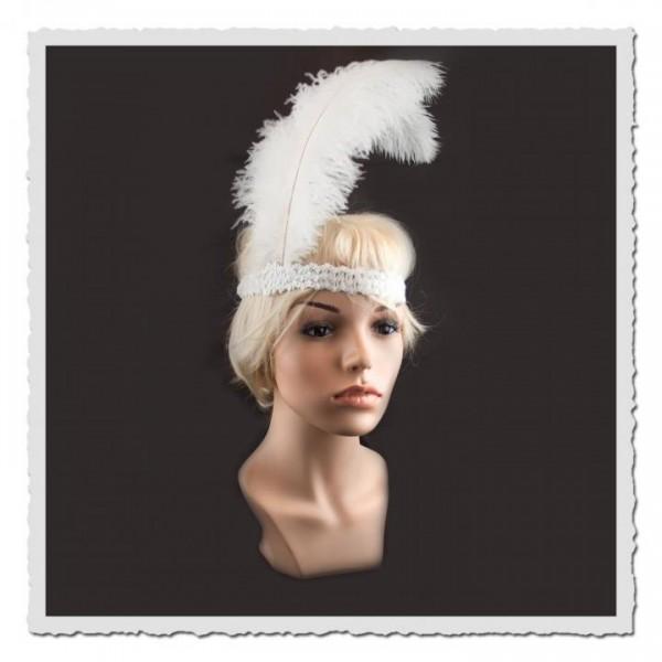 Flapper-Stirnband weiss/weiss