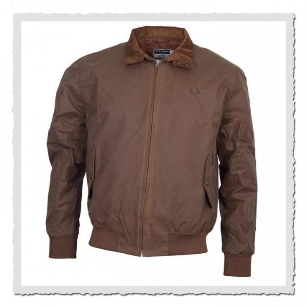 Harrington Jacket MIE waxed Tobaco