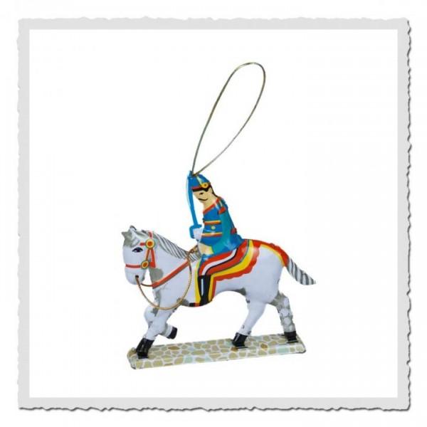 Blech-Anhänger Kavallerist