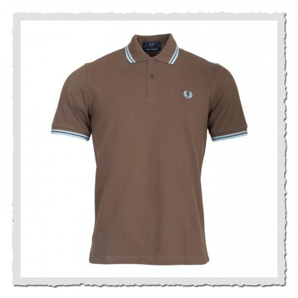Polo Shirt Twin Tipped Chocolate